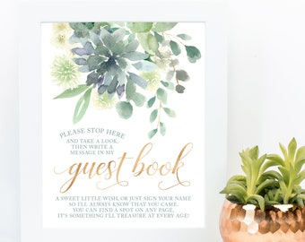 Cactus Botanical GuestBook GB141 Keepsake Gift for Wedding Couple Succulents Wreath Wedding Guest Book SALE 50/% Off Canvas Guest Book