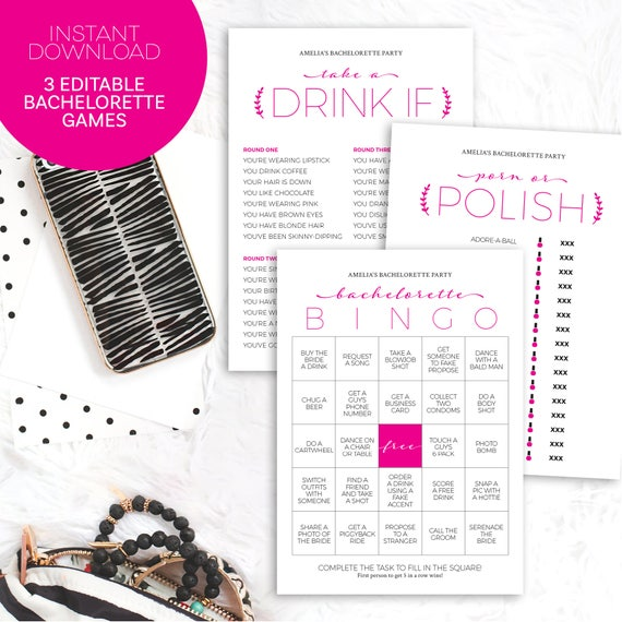graphic about Bachelorette Party Games Printable named Bachelorette Social gathering Game titles Printable Immediate Obtain Editable