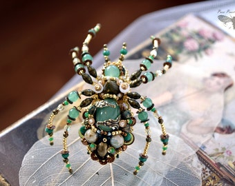 Spider jewelry - Ring OR Brooch, Statement ring, Gothic jewelry, Steampunk jewelry, Halloween jewelry, Adjustable ring, Large ring, Art ring