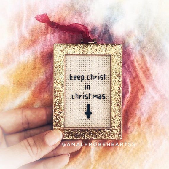 Ready to ship - Keep christ in christmas lol ornament