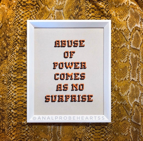 Abuse of power comes as no surprise - customizable