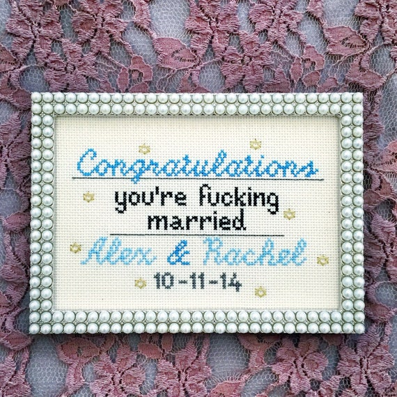 Congrats you're f*cking married - NO FRAME