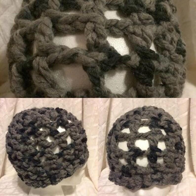 Crochet super chunky mesh unisex boho beanie tam