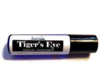 Tigers Eye Rollerball | blend for rheumatoid arthritis, rheumatoid arthritis oil, arthritis pain relief, arthritis salve, oil blend for pain