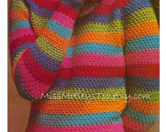 "Crochet pullover sweater pattern immediate download 1970s ""Rainbow Pullover"" PDF"