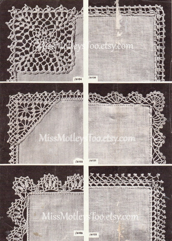 Crochet Lace Patterns 25 Pieces Lace Edge Immediate Download Etsy