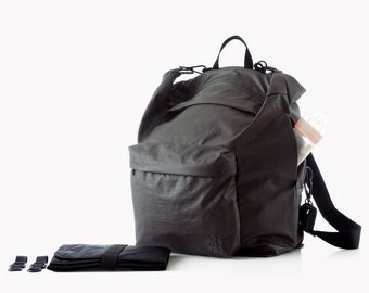 Grey Diaper bag, Diaper backpack, Changing bag, Baby diaper bag, Baby nappy bag, Unique diaper bags, Unisex diaper bag, Laptop backpack