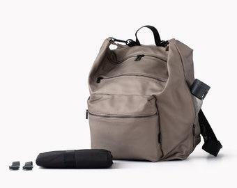 Silver Canvas Diaper bag, Changing bag, Baby diaper bag, Baby Nappy Bag, Unique diaper bags, Unisex diaper bag, Laptop backpack