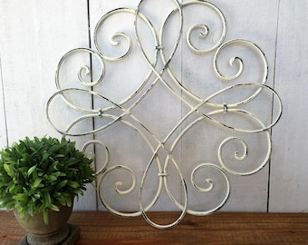 WALL DECOR-Gallery Wall-Iron decor-Wall art-Ornate wall art-Wall Scroll-Swirl-You pick color-Wall design-Home deceor-Wall decor-Cast iron