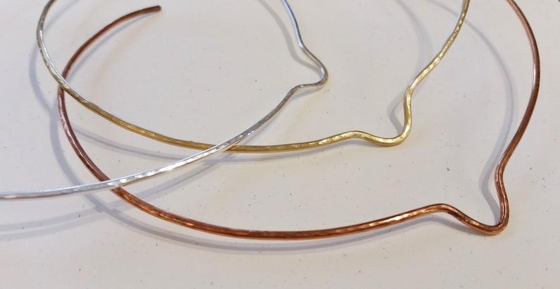 Neck Wire Hammered Brass Collar