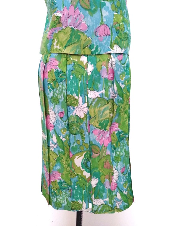 Vintage 1950s Floral Two-Piece Skirt Set - image 6