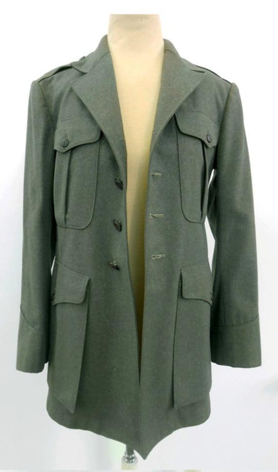 Vintage 1940's Military Wool Jacket