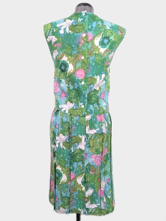 Vintage 1950s Floral Two-Piece Skirt Set - image 2