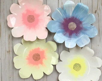 """Flowers /& Fruit Wedding Floral Pink Gerber Daisy Party 10.5/"""" Plates"""
