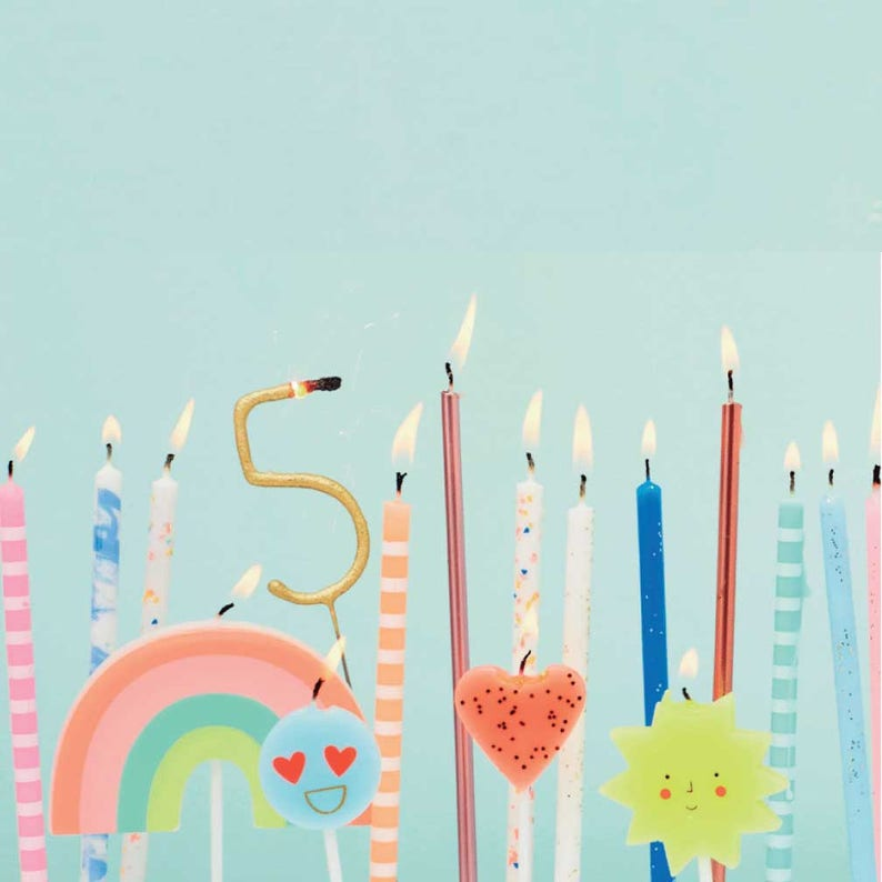 Cat Candles Birthday Cake Meri Toppers