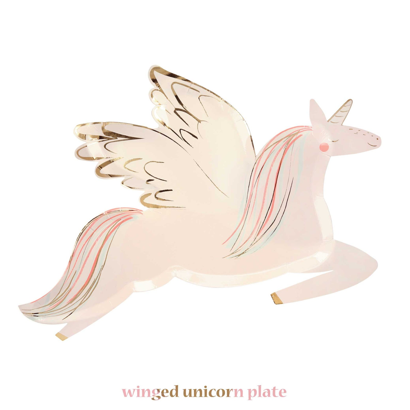 Unicorn Paper Plates for 16 Guests