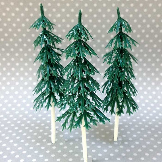 Plastic Christmas Tree.12 Small Pine Tree Cake Toppers Plastic Evergreens Woodland Cupcakes Miniature Christmas Tree Let S Explore Adventure Camping Cake Pick