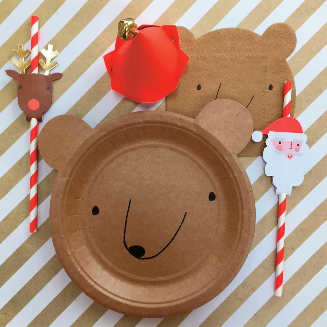 Local ... & Bear Plates (12) Meri Meri Bear Party Plate Small Bear Paper ...