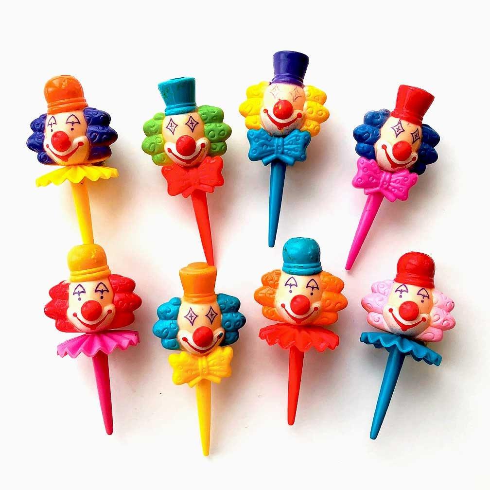 Circus Clown Picks 8 3-D Clown Cake Toppers Retro Clown | Etsy