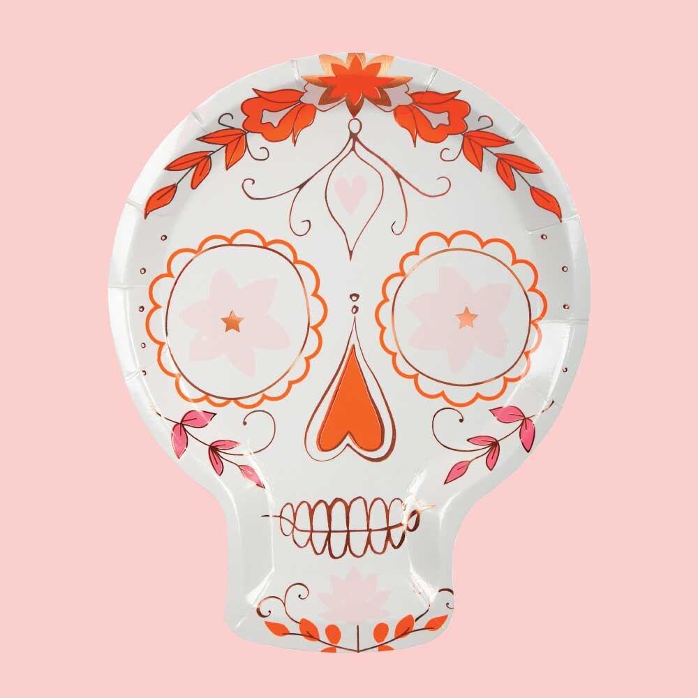 Sugar Skull Plates 8 Fiesta Party Plates Meri Meri Day of   Etsy