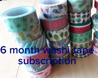 A 6 month washi tape subscription