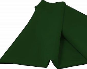 "Hunter Green 60"" Wide 100% Polyester Spun Poplin Fabric Sold By The Yard."
