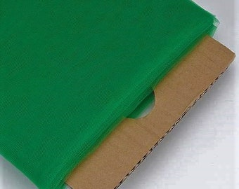 """Emerald Green 54"""" Wide by 40 Yards Long (120 Feet) Polyester Tulle Fabric Bolt, for Wedding and Decoration."""