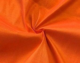 "Orange 58"" Wide Medium Weight Stretch Two Tone Taffeta Fabric, Sold By The Yard."