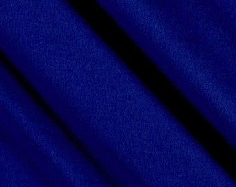 """Royal Blue 59/60"""" Wide 100% Polyester Wrinkle Free Stretch Double Knit Scuba Fabric Sold By The Yard."""