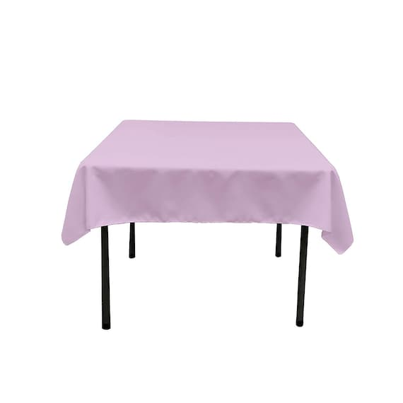 """New Creations Fabric & Foam Inc, 68"""" by 68"""" Square SEAMLESS Polyester Poplin Tablecloth, Lilac"""