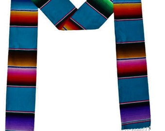 """New Creations Fabric & Foam Inc, 5"""" Wide by 76"""" Long Authentic Mexican Serape Graduation Stole Sash"""