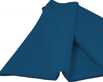 """Teal 60"""" Wide 100% Polyester Spun Poplin Fabric Sold By The Yard."""
