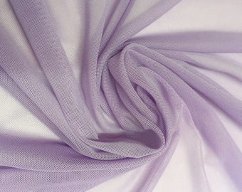 """Lavender 58/60"""" Wide Solid Stretch Power Mesh Fabric Nylon Spandex Sold By The Yard."""