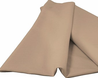 """Taupe 60"""" Wide 100% Polyester Spun Poplin Fabric Sold By The Yard."""