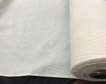 """Ivory Muslin natural 100% cotton medium quality unbleached fabric-45-48"""" wide-pattern maker fabric-sold by the yard."""