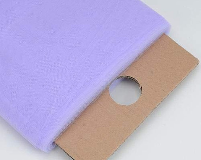 """Lavender 54"""" Wide by 40 Yards Long (120 Feet) Polyester Tulle Fabric Bolt, for Wedding and Decoration."""