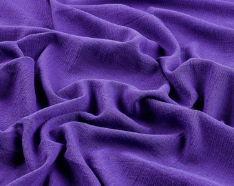 """Purple Cotton Gauze Fabric 100% Cotton 48/50"""" inches Wide Crinkled Lightweight Sold by The Yard."""