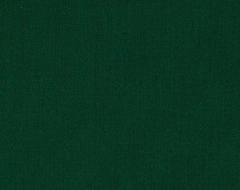 """Hunter Green 58-59"""" Wide Premium Light Weight Poly Cotton Blend Broadcloth Fabric Sold By The Yard."""