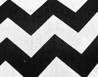 "New Creations Fabric & Foam Inc, 60"" Wide Chevron/Zig Zag Poly Cotton Print Fabric By The Yard"