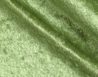 """Sage 59/60"""" Wide Crushed Stretch Panne Velvet Velour Fabric Sold By The Yard."""