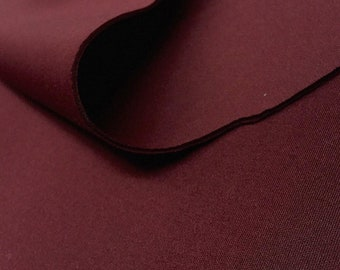 """Burgundy 58/60"""" Wide 90% Polyester / 10 percent Spandex Neoprene Scuba Fabric Sold By The Yard."""