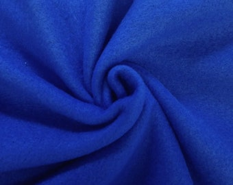 """Royal Blue Solid Polar Fleece Fabric Anti-Pill 58"""" Wide Sold by The Yard."""