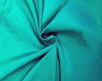 """Aqua 58"""" Wide Medium Weight Stretch Two Tone Taffeta Fabric, Sold By The Yard."""