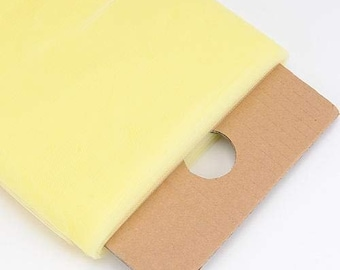 """Light Yellow 54"""" Wide by 40 Yards Long (120 Feet) Polyester Tulle Fabric Bolt, for Wedding and Decoration."""