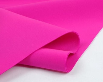 """Fuchsia  58/60"""" Wide 90% Polyester / 10 percent Spandex Neoprene Scuba Fabric Sold By The Yard."""