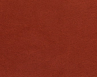"""Rust Solid Polar Fleece Fabric Anti-Pill 58"""" Wide Sold by The Yard."""