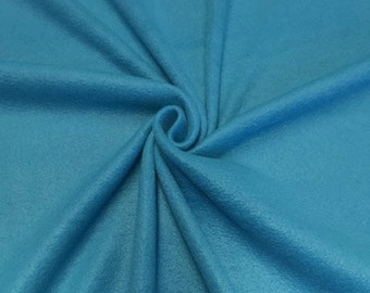 """Turquoise Solid Polar Fleece Fabric Anti-Pill 58"""" Wide Sold by The Yard."""