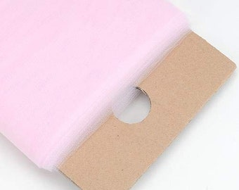 """Light Pink 54"""" Wide by 40 Yards Long (120 Feet) Polyester Tulle Fabric Bolt, for Wedding and Decoration."""
