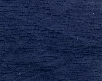 """Navy Blue Cotton Gauze Fabric 100% Cotton 48/50"""" inches Wide Crinkled Lightweight Sold by The Yard."""