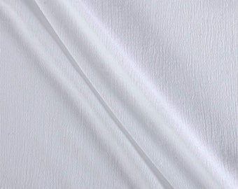 """White Cotton Gauze Fabric 100% Cotton 48/50"""" inches Wide Crinkled Lightweight Sold by The Yard."""